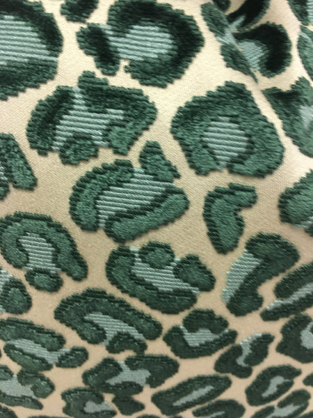 Brentano beige, green cheetah print  Design Pillow Cover, Eurosham or Lumbar Pillow Accent Pillow, Throw Pillow