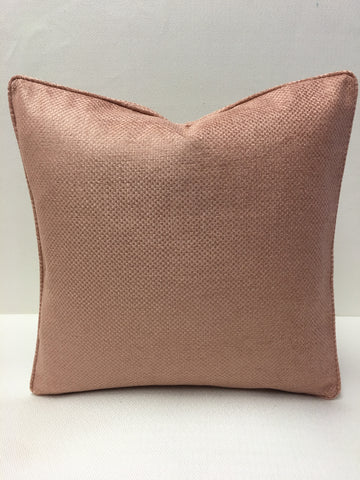 Brentano  Peach/Rose color weave Design Pillow Cover, Eurosham or Lumbar Pillow Accent Pillow, Throw Pillow