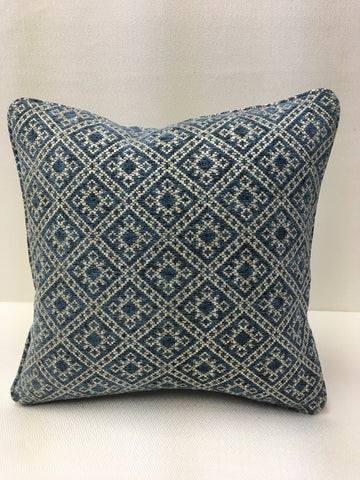 Colefax and Fowler Blue Beige and Grey Design Pillow Cover, Eurosham or Lumbar Pillow Accent Pillow, Throw Pillow