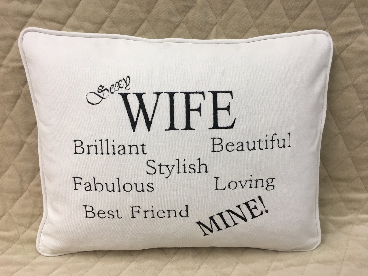 Valentines gift pillow for husband or wife