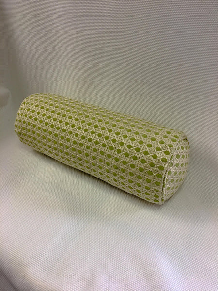 Schumaker Beige and Green Geometric Bolster Pillow Cover, Eurosham or Lumbar Pillow Accent Pillow, Throw Pillow