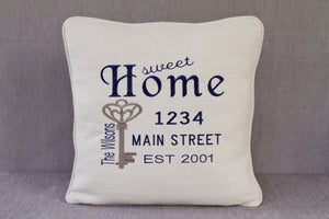 Personalized Housewarming Pillow