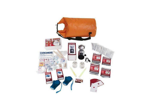 Image of 10Pc Family Blackout Kit Waterproof Dry Bag Deluxe First Aid Kit - Survival Gear Systems