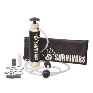 12 Survivors Hand Pump Water Purifier - Survival Gear Systems
