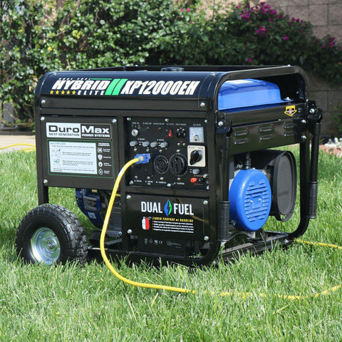 DuroMax XP12000EH 12,000 Duel Fuel Watt Electric Start Generator - Survival Gear Systems