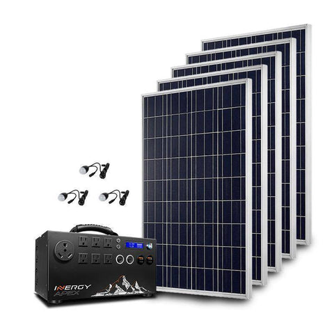 Inergy Apex Gold Storm100 Solar Generator Kit - Survival Gear Systems
