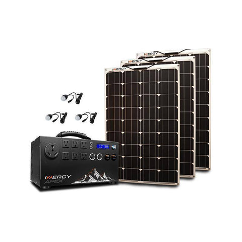Inergy Apex Silver Linx Solar Generator Kit - Survival Gear Systems
