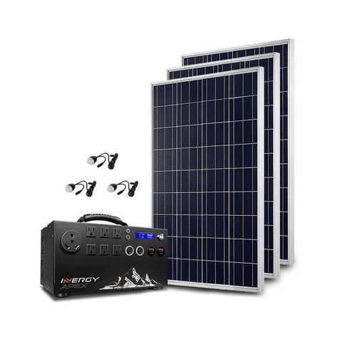 Inergy Apex Silver Storm100 Solar Generator Kit - Survival Gear Systems