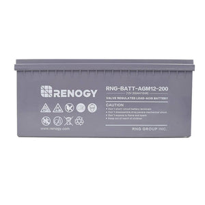 Renogy Deep Cycle AGM Battery 12 Volt 200Ah - Survival Gear Systems