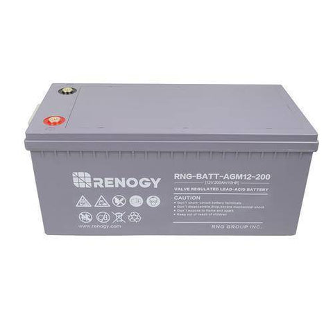 Image of Renogy Deep Cycle AGM Battery 12 Volt 200Ah - Survival Gear Systems