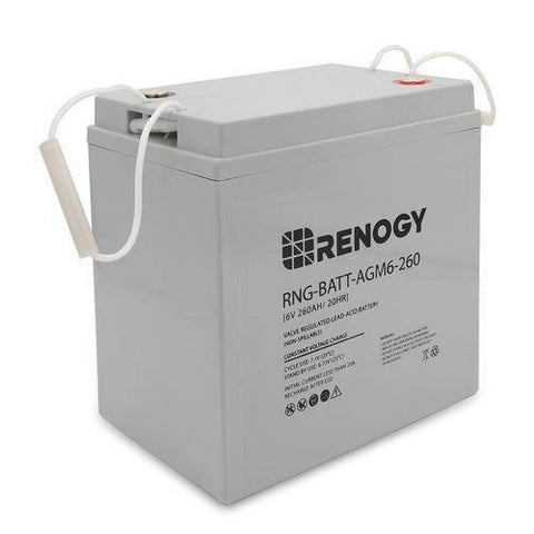 Image of Renogy Deep Cycle AGM Battery 6 Volt 260Ah - Survival Gear Systems