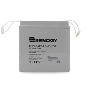 Renogy Deep Cycle AGM Battery 6 Volt 260Ah - Survival Gear Systems