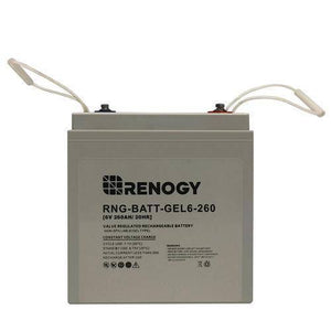 Renogy Deep Cycle Pure GEL Battery 6 Volt 260Ah - Survival Gear Systems
