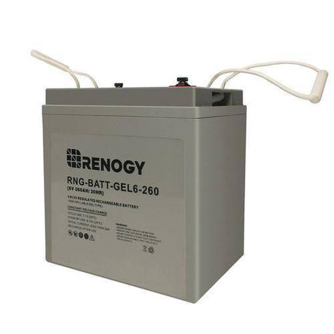Image of Renogy Deep Cycle Pure GEL Battery 6 Volt 260Ah - Survival Gear Systems