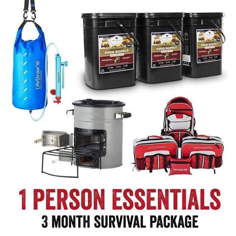 Image of Survival Gear Essentials Package for 1 Person - 3 Months - Survival Gear Systems