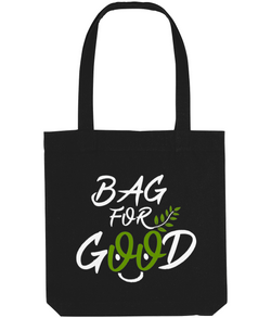 Tote Bag Organic Cotton Bag For Good - Black- 2B Lady