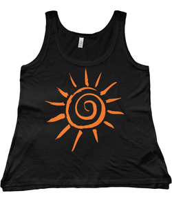 Women's Organic Cotton & Tencel Blend Vest Sun - Black / Large- 2B Lady