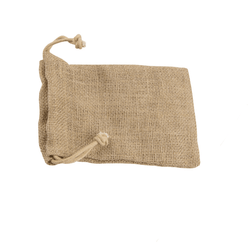Medium Jute Bag With Drawstring - Natural- 2B Lady