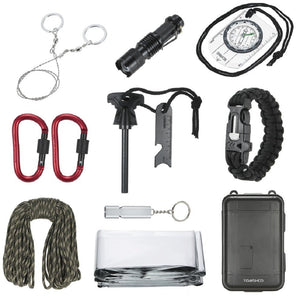 TOMSHOO 11 in 1 Outdoor Survival Kit