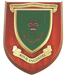 59 Independent Commando Squadron Royal Engineers Wall Mess Plaque