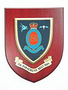 7th Parachute Regiment Royal Horse Artillery Wall Mess Plaque