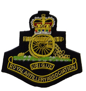 Army Royal Artillery Blazer Badge Jacket RA HQ Green Embroidered Military