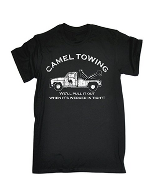 CAMEL TOWING WELL PULL IT OUT Printed T-shirt