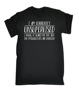 I AM CURRENTLY UNSUPERVISED Printed T-shirt