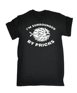 IM SURROUNDED BY PRICKS PUFFER Printed T-shirt