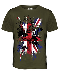 Great Britain Union Jack Abstract Flag Printed T Shirt