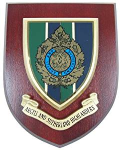 Argyll & Sutherland Highlanders Wall Mess Plaque