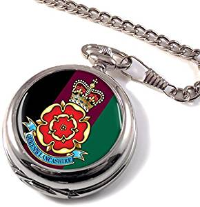 Queen's Lancashire Regiment Full Hunter Pocket Watch