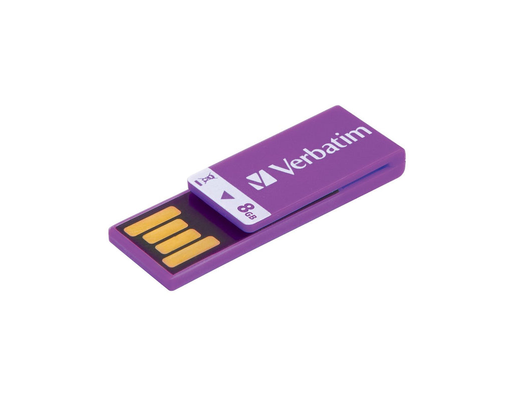 Memoria Verbatim 43937 8GB Clip-It - Violet