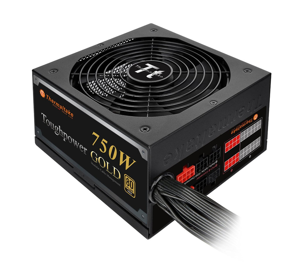 Thermaltake Toughpower 750W 80 Plus Gold ATX12V 2.3 & EPS12V 2.92 Power Supply, Black PS-TPD-0750MPCGUS-1