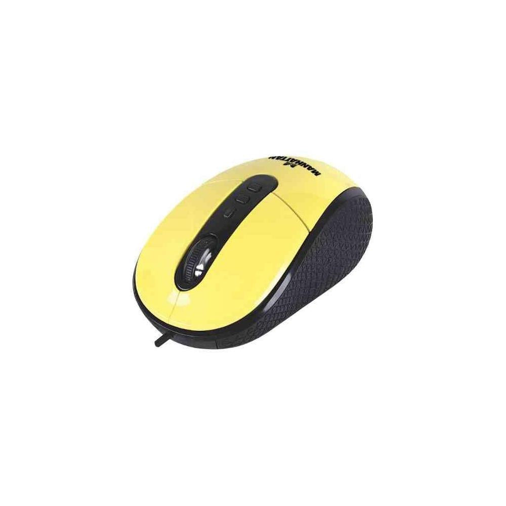 Manhattan Usb 1.1 Righttrack Mouse Yellow 177689