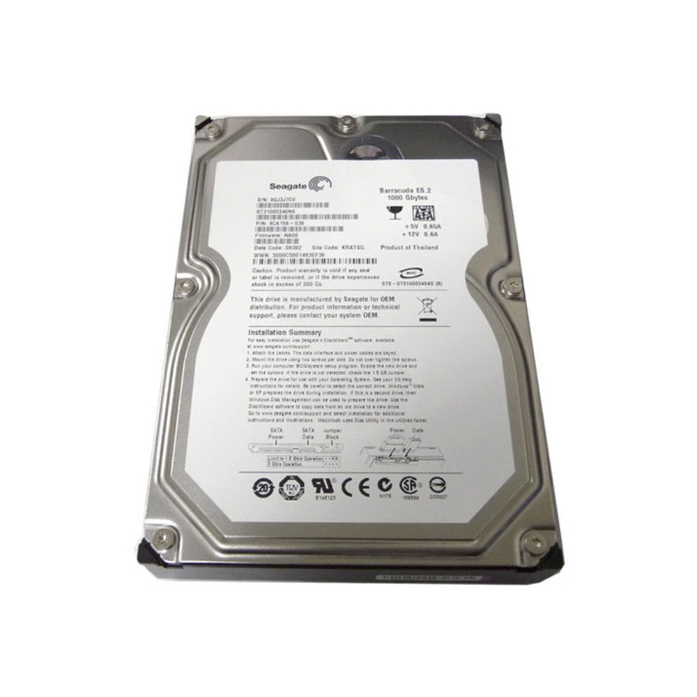 "Seagate-IMSourcing Barracuda ES.2 ST31000340NS 1 TB 3.5"" Internal Hard Drive - SATA - 7200 rpm - 32 MB Buffer"