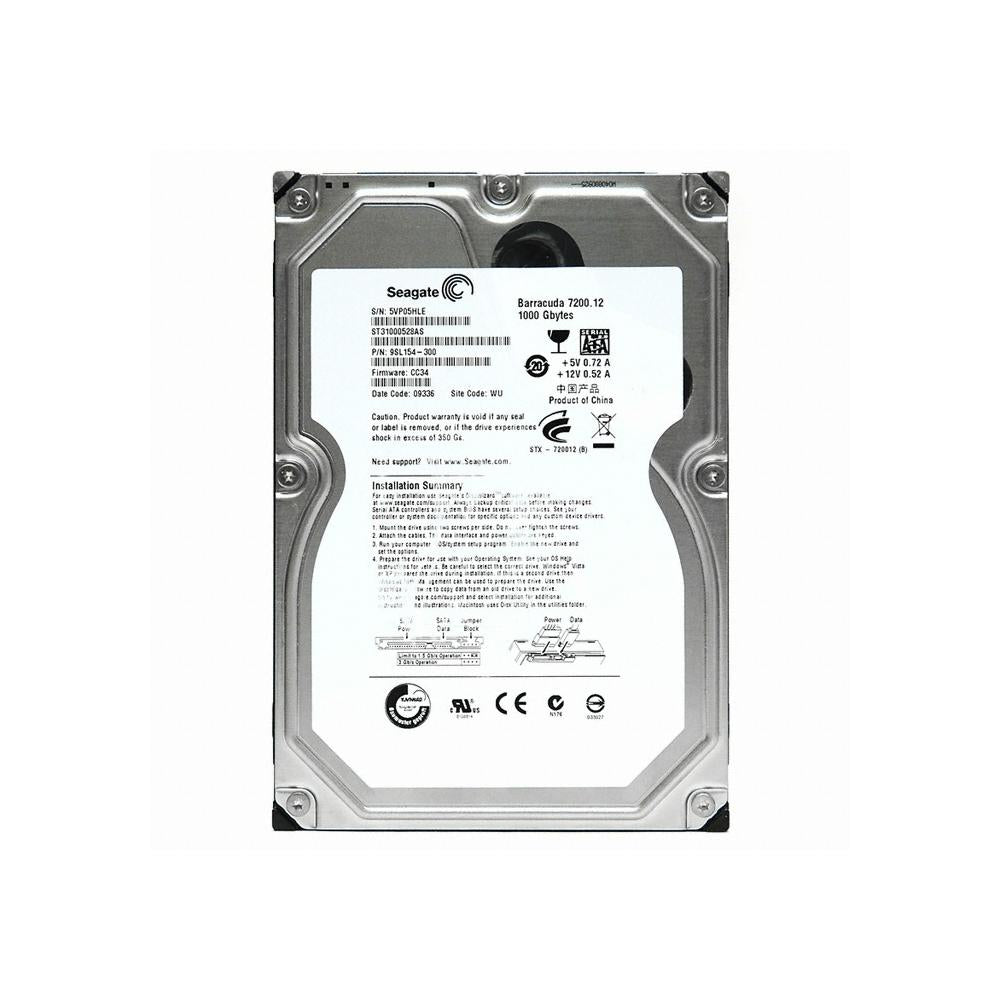 Seagate Barracuda 7200.12 1TB SATA 3Gb/s 32MB Internal Hard Drive - ST31000528AS