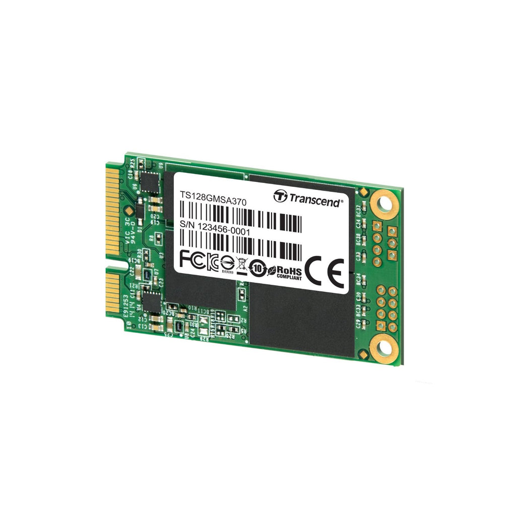 Transcend MSA370 - Solid state drive - 128 GB - internal - mSATA - SATA 6Gb/s