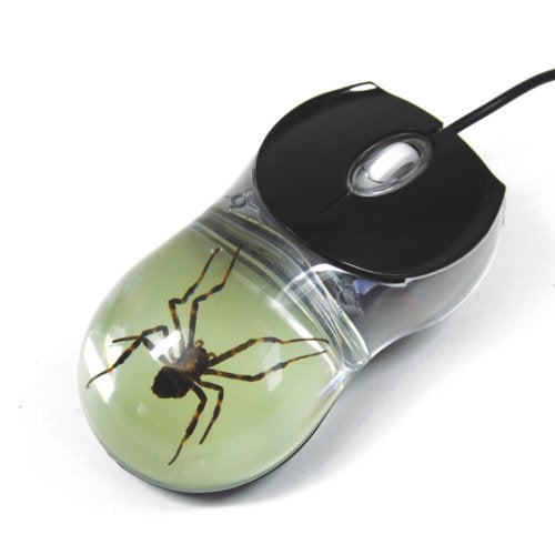 Spider Computer Mouse with Glow in the Dark Background