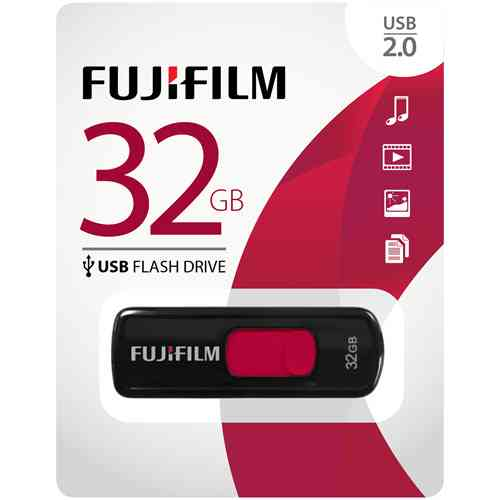 Fujifilm USB 2.0 32GB Capless Slider USB 2.0 Capless Flash Drive (600012299)