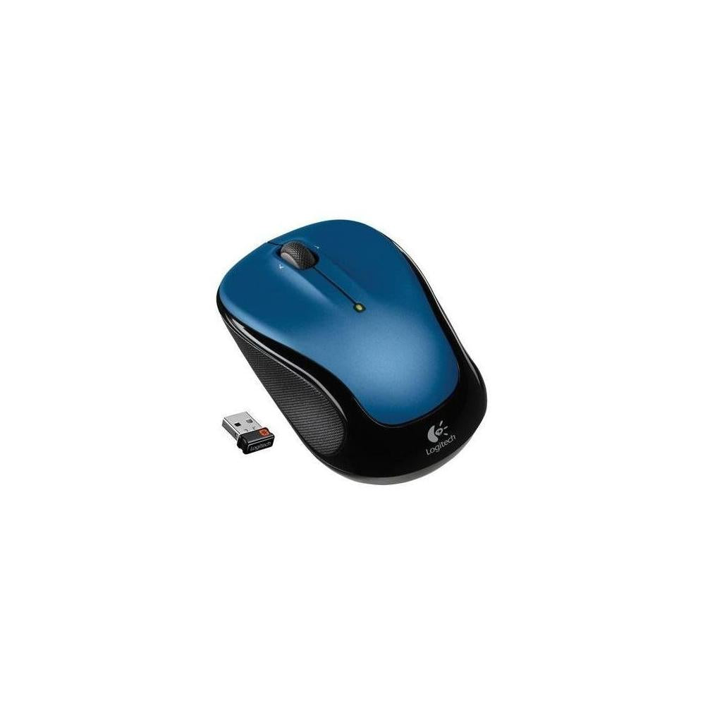 Logitech M325 Mouse Optical Wireless Radio Frequency Blue Usb Scroll Wheel 910002650