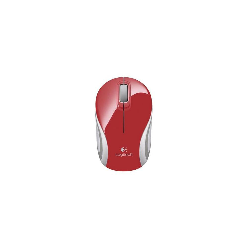 Logitech M187 Optical Wireless Radio Frequency Usb Mouse Red 910002727