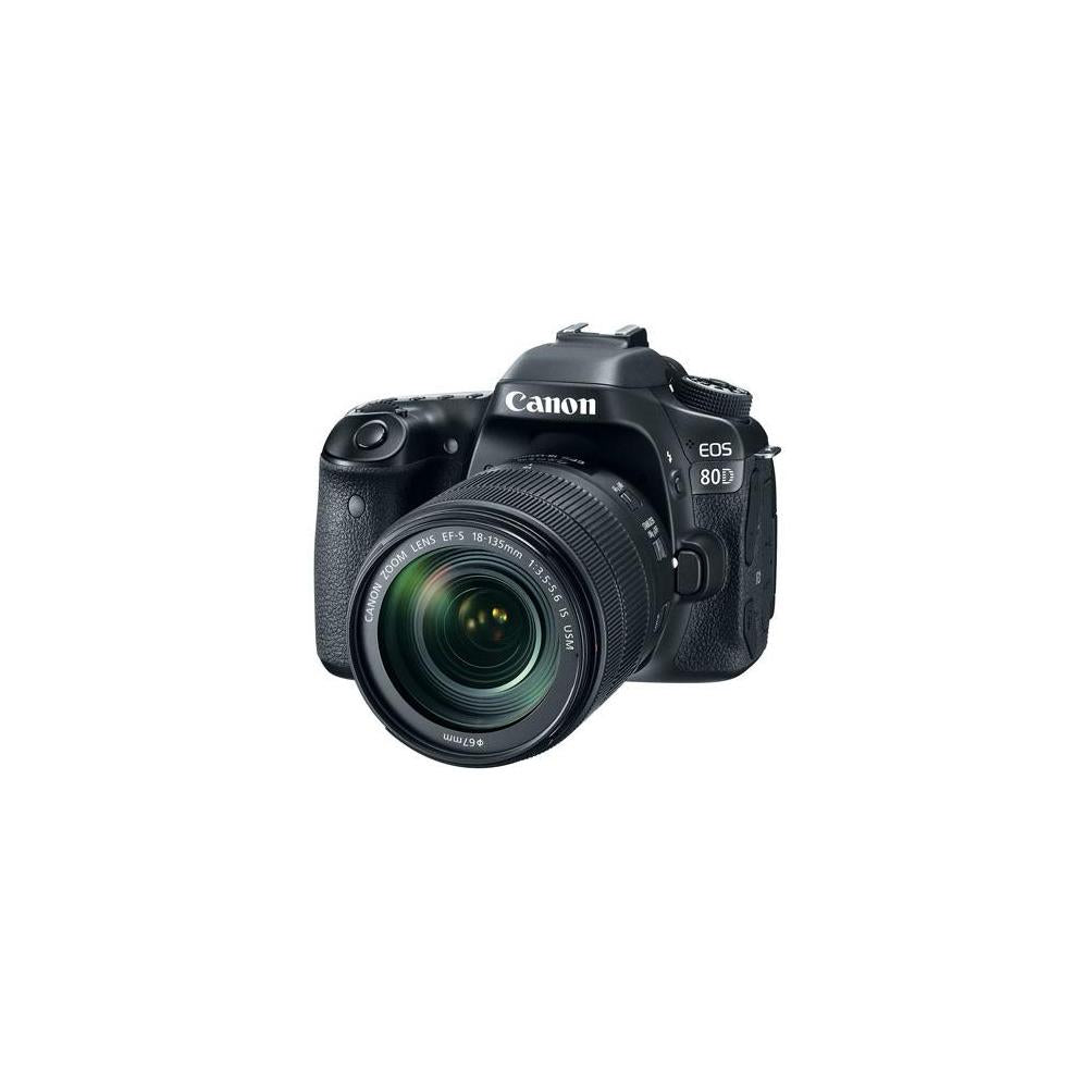 Canon EOS 80D Digital SLR Kit with EF-S 18-135mm f/3.5-5.6 Image Stabilization USM Lens (Black)