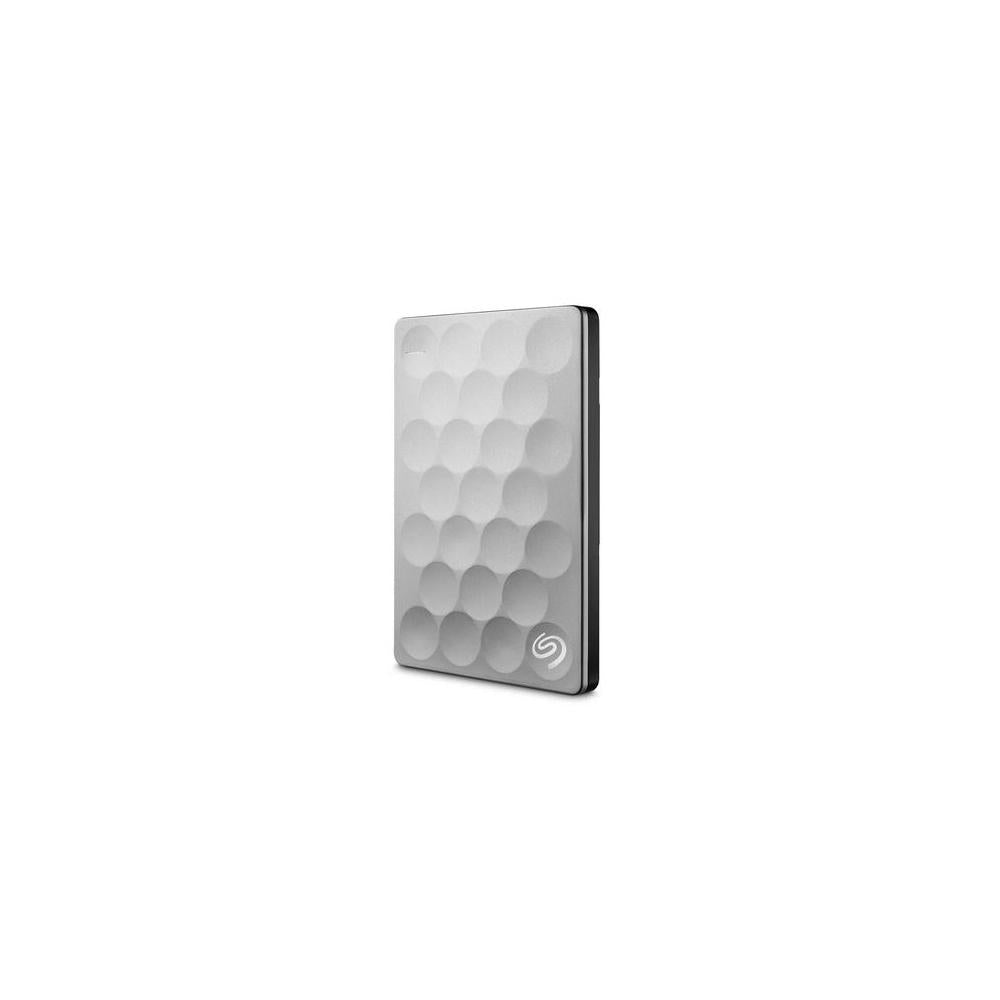 Seagate Backup Plus Ultra Slim STEH2000100 2 TB External Hard Drive - USB 3.0 - Portable - Platinum - STEH2000100
