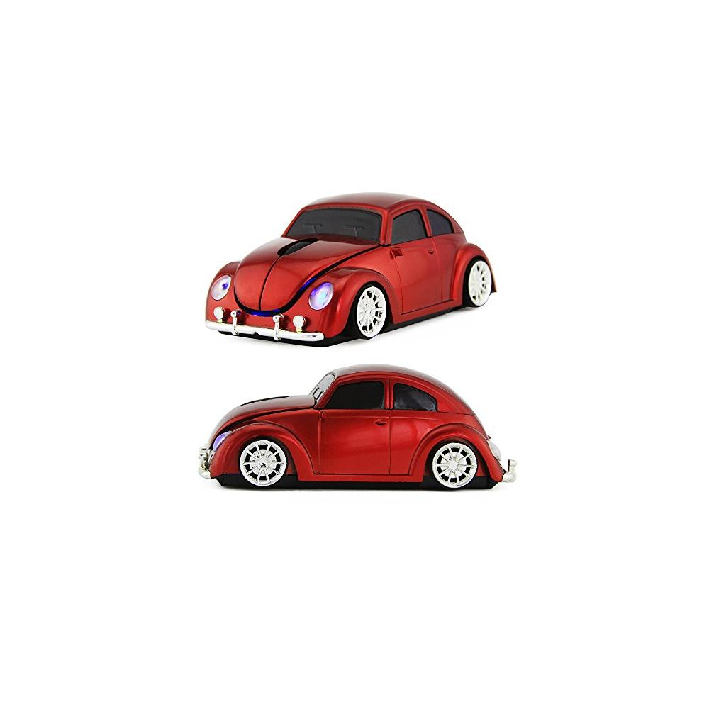 Usbkingdom 2.4Ghz Sport Beetle Car Shape Computer Mice Usb Wireless Mouse 1600Dpi Optical Usb Mouse For Pc Laptop