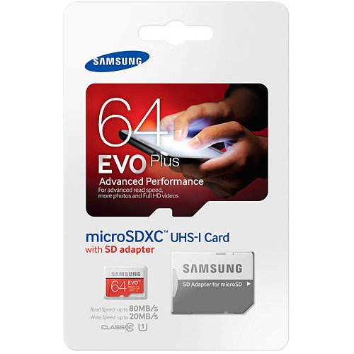 Samsung Evo Plus 64GB MicroSD XC Class 10 UHS-1 Mobile Memory Card for Samsung Galaxy J3 J1 Nxt Ace A9 A7 A5 A3 Tab A 7.0 E 8.0 View On7 On5 Z3 with MemoryMarket MicroSD & SD Memory Card Reader
