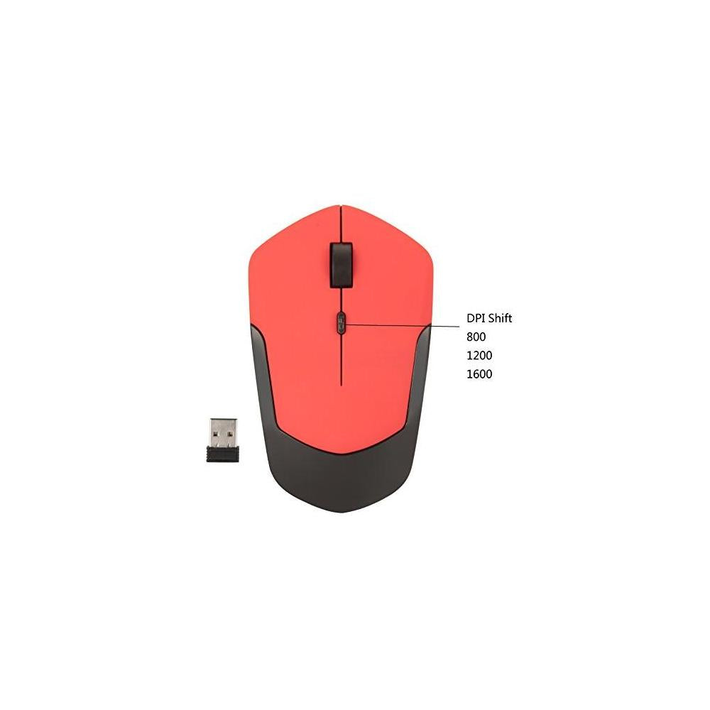 Wireless rechargeable mouse 2.4Ghz portable mice with optical Sensor Nano USB Receiver , powered by rechargeable Li-polymer battery , 3 stage DPI Speed, 4 Buttons for PC, Laptop, tablet, Macbook