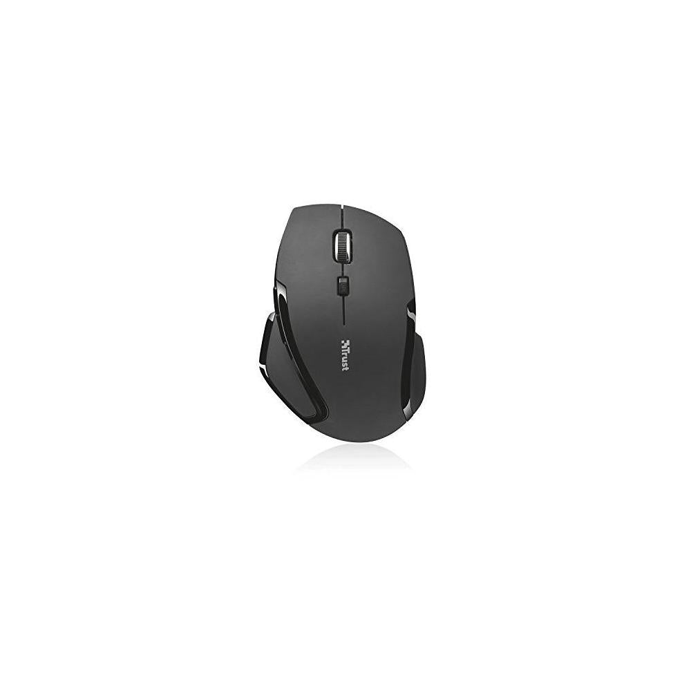 Trust Evo Compact Wireless Optical Mouse, 6 Buttons, Ergonomic, Rubber Coated