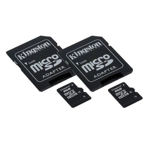 HUBSAN X4 Plus H107P  Quadcopter Drone Memory Card 2 x 8GB microSDHC Memory Card with SD Adapter (2 Pack)