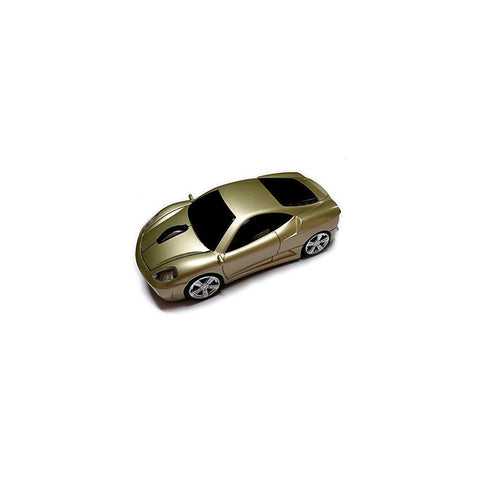 Wireless Car Mouse, TDRTECH 2.4GHz Optical Gaming Mouse Cool Sport Car Wireless Mouse, DPI 1600, 3D - Gold